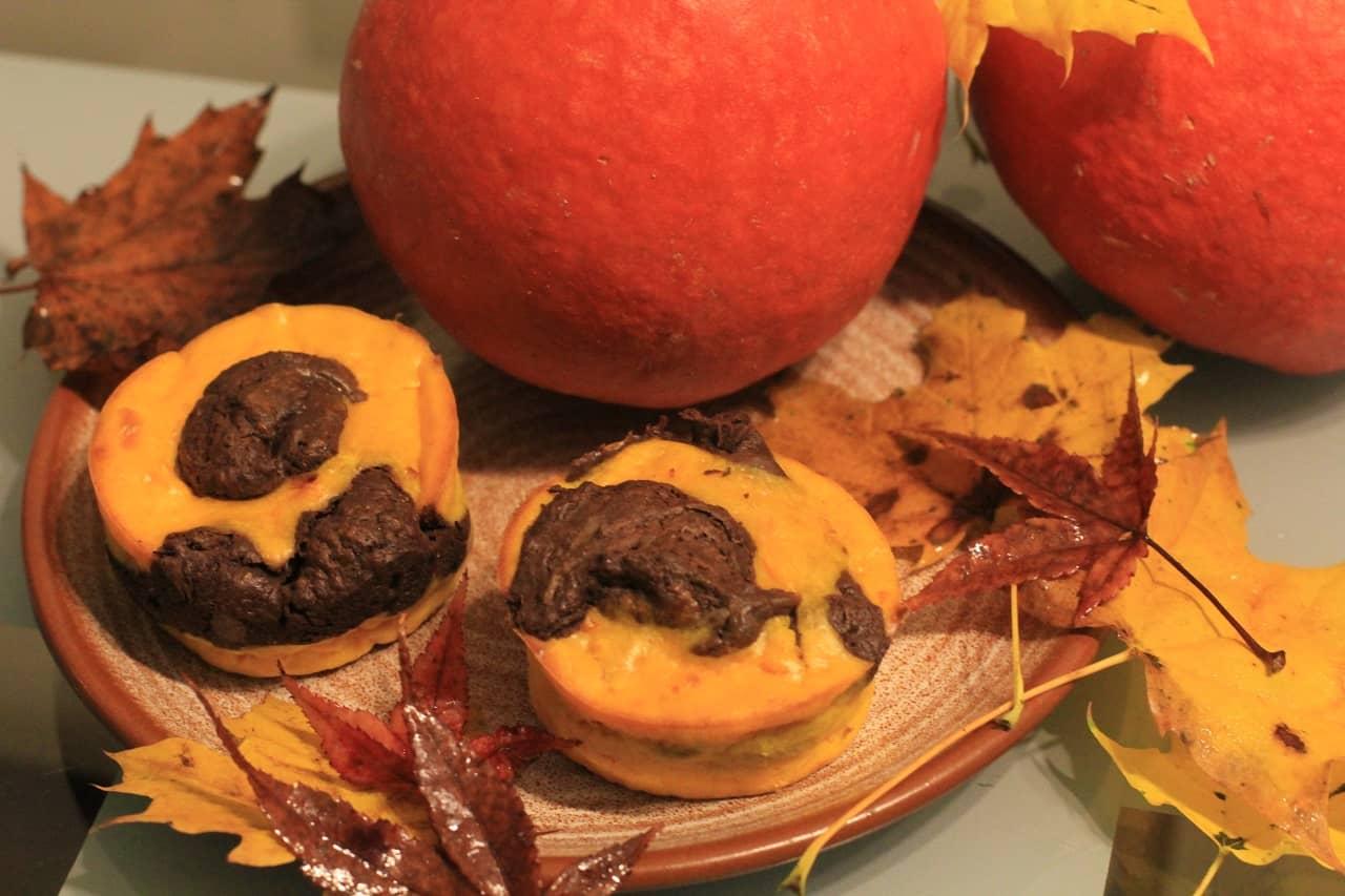 Cake marbré potimarron et chocolat